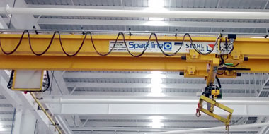 Double girder underslung crane - Sparkline Equipments